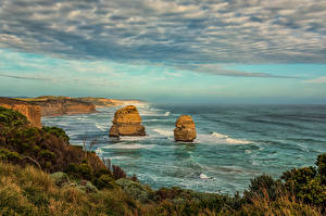 Bilder Australien Küste Felsen Wolke Princetown