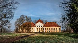 Bureaubladachtergronden Oostenrijk Burcht Bomen Kirchberg an der Raab Steden