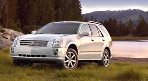 Fonds d'écran Cadillac Crossover Argent couleur Herbe SRX, 2004