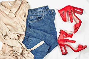 Pictures Clothes Jeans High heels