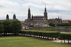 Wallpaper Dresden Germany Bush Design Lawn Palace Saxony, Dresden Castle-Residence Cities