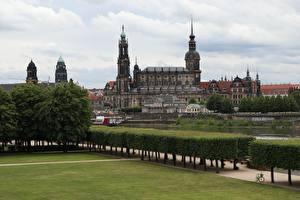 Bilder Dresden Deutschland Strauch Design Rasen Palast Saxony, Dresden Castle-Residence Städte