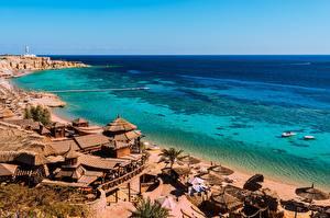 Pictures Egypt Coast Spa town Sea Bay Beach South Sinai, Sharm el-Sheikh Cities