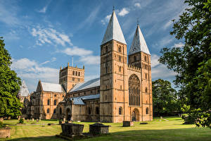 Fotos England Kathedrale Turm Southwell Minster