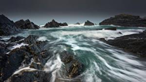Bilder England Küste Felsen Devon Natur