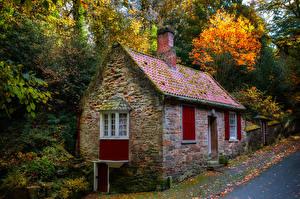 Fotos England Haus Herbst Steinernen Durham city Städte