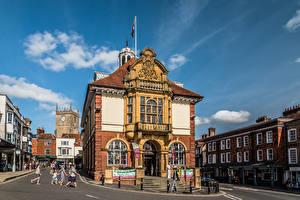 Fotos England Gebäude Menschen Straße Marlborough Städte