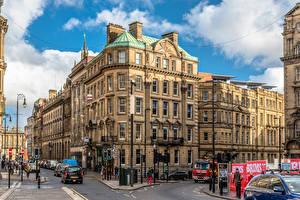 Hintergrundbilder England Haus Menschen Stadtstraße Newcastle Städte