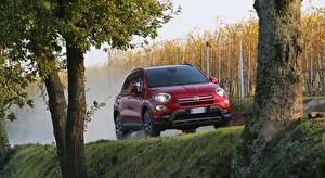 Image Fiat Red Crossover Front 500X, Cross, 2015 Cars