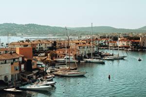 Bilder Frankreich Küste Gebäude Boot Grimaud, Provence, Var department, arrondissement Draguignan, canton Saint-Maxime Städte