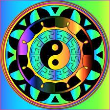 デスクトップの壁紙、、幾何学、宗教、陰陽、円、Mandala、