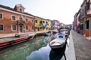 Fotos Italien Boot Haus Venedig Kanal Städte