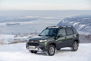 Fonds d'écran Lada AvtoVAZ Neige Métallique SUV Niva Travel Off-Road, 2020