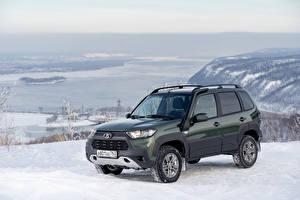 Wallpapers Lada Snow Metallic SUV Niva Travel Off-Road, 2020 auto