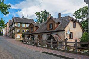 Fonds d'écran Lettonie Bâtiment Vieil Rue Talsi