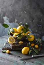 Wallpaper Lemons Branches Food
