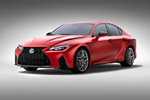 Picture Lexus Red Metallic Gray background IS 500 F SPORT Performance, North America, 2021 Cars