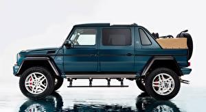 Fonds d'écran Maybach Mercedes-Benz Sport utility vehicle Latéralement G 650, Landaulet, 2017 voiture