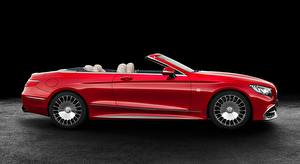 Fondos de escritorio Mercedes-Benz Maybach Descapotable Rojo Lateralmente S 650, Cabriolet, 2017