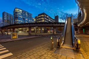 Fonds d'écran Pays-Bas Maison Soir The Hague