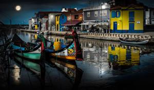 Bilder Portugal Gebäude Boot Kanal Aveiro Städte