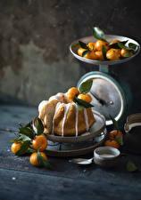 Fotos Keks Mandarine Bretter Lebensmittel