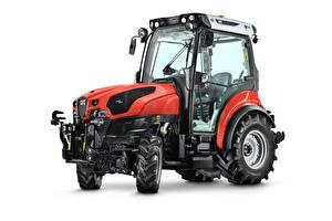 Фотографии Тракторы Красных Белый фон SAME Frutteto CVT 100 V, 2019