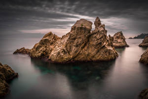 Image Spain Coast Rock Girona Nature