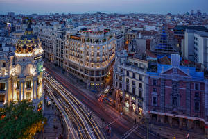 Picture Spain Madrid Building Street Cities