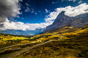 Wallpapers Switzerland Mountains Alps Clouds Grindelwald Nature pictures images