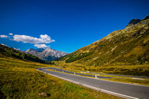 Image Switzerland Mountains Roads Alps  Nature