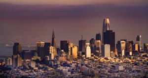 Bureaubladachtergronden Amerika Huizen Californië San Francisco een stad