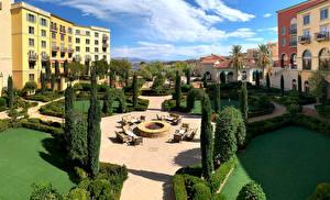 Fonds d'écran USA Maison Aménagement paysager Hôtel Nevada Hilton Lake Las Vegas Resort Villes images