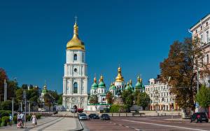 Fonds d'écran Ukraine Kiev Maison Cathédrale Saint Sophia Cathedral