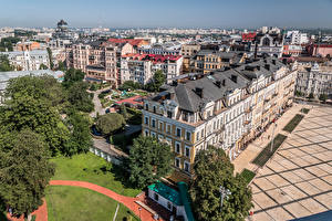 Wallpaper Ukraine Kiev Houses From above Cities