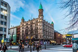 Hintergrundbilder Vereinigtes Königreich Gebäude Menschen Stadtstraße Belfast, Northern Ireland, Belfast City Centre
