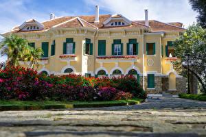 Hintergrundbilder Vietnam Palast Strauch Bao Dai King Palace in Da Lat Städte