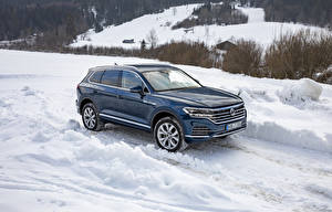 Wallpapers Volkswagen Crossover Blue Metallic 2018-20 Touareg V6 TDI Worldwide auto