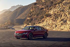 Fonds d'écran Volkswagen Rouge Métallique 2021 Arteon 4MOTION R-Line Voitures images