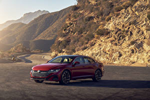 Pictures Volkswagen Red Metallic 2021 Arteon 4MOTION R-Line automobile