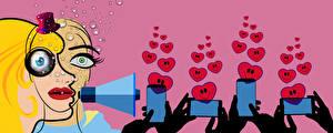 Picture Smartphone Heart Hands Advertisement influencer