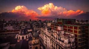 Fotos Argentinien Abend Gebäude Wolke Buenos Aires, Balvanera Städte