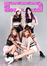 Images Asian Posing Four 4 Glance D' Soul Girls