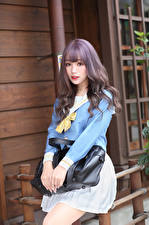 Images Asian Purse Uniform Schoolgirls Staring young woman