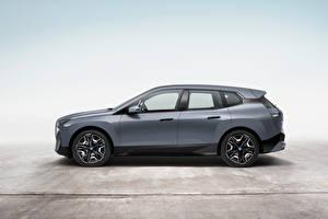 Fonds d'écran BMW Gris Métallique Latéralement Crossover iX xDrive50 Sport, Worldwide, (i20), 2021