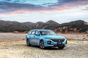 Wallpaper Baojun Station wagon Light Blue Metallic Chinese Valli, 2021 automobile