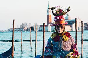 Hintergrundbilder Karneval und Maskerade Maske Italien Der Hut Venedig