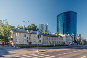 Hintergrundbilder Estland Tallinn Haus Straße