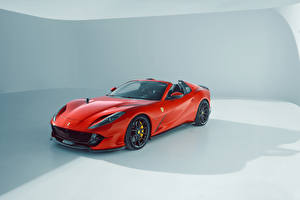Wallpapers Ferrari Tuning Red Metallic Roadster Novitec, Ferrari 812 GTS, 2021 auto
