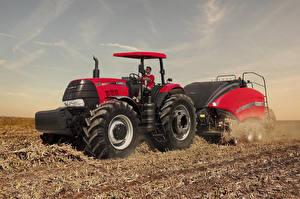Fotos Felder Landwirtschaftlichen Maschinen Traktoren 2017-21 Case IH Puma 185 ROPS